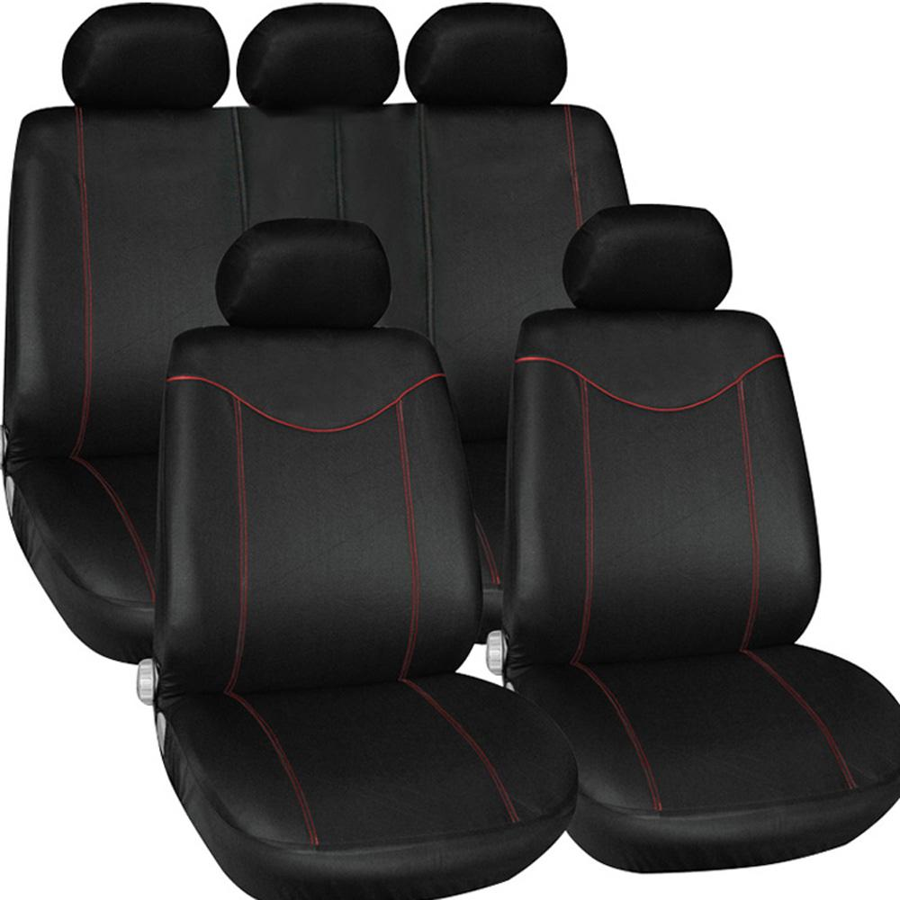 Universal Car Cover Auto Interior Accessories Styling 9PCS/ste Car Seat Cover Cushion Supply Anti Mud Storage Bag Seat Support K1761