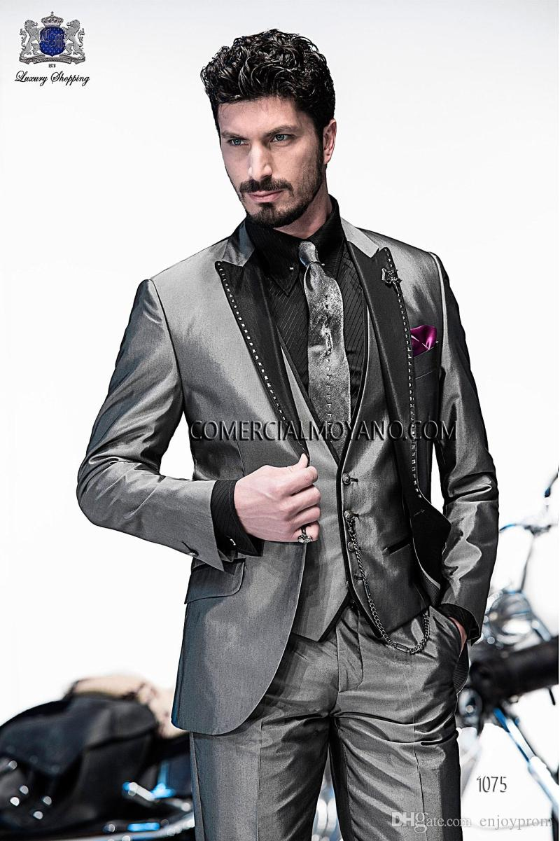 Mens Silver Pinstripe Suit Online | Mens Silver Pinstripe Suit for