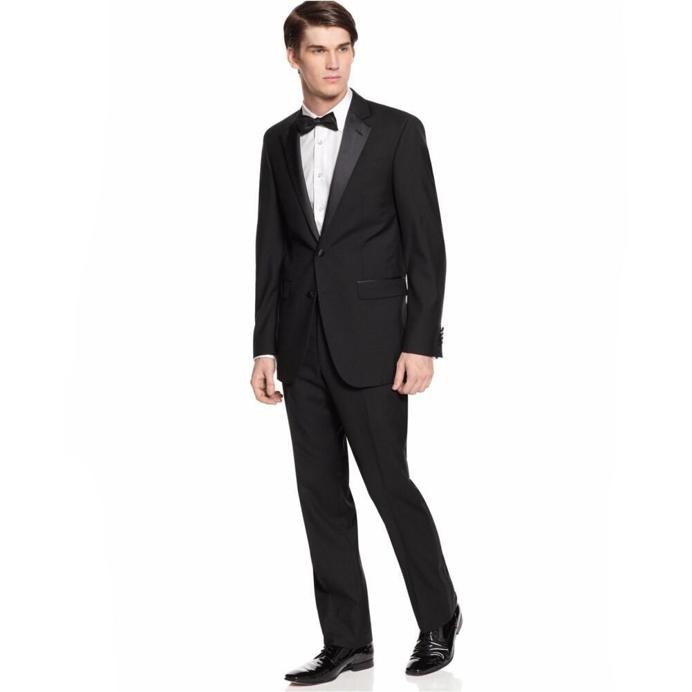 New Design Black Groom Tuxedos Bridegroom Wedding Suit For Men ...