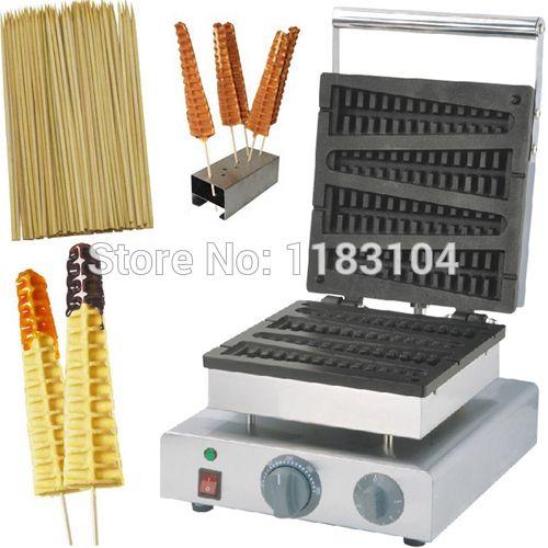 Stick On A Waffle Iron ~ V electric lolly waffle on a stick baker
