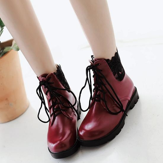 Fashion Flat Ankle Boots For Women Sexy Lace Up Lady'S Dress ...