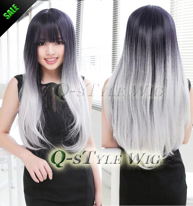 Groovy New Arrival Synthetic Wig Two Tone Color Wig Ombre Harajuku Neat Short Hairstyles For Black Women Fulllsitofus