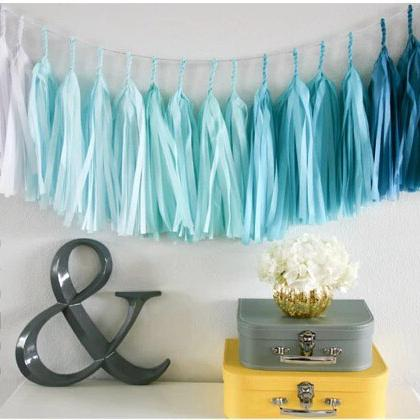 14 diy tissue paper garland bachelorette party wedding decoration christmas party decorations tissue tassel garland - Tissue Paper Decorations