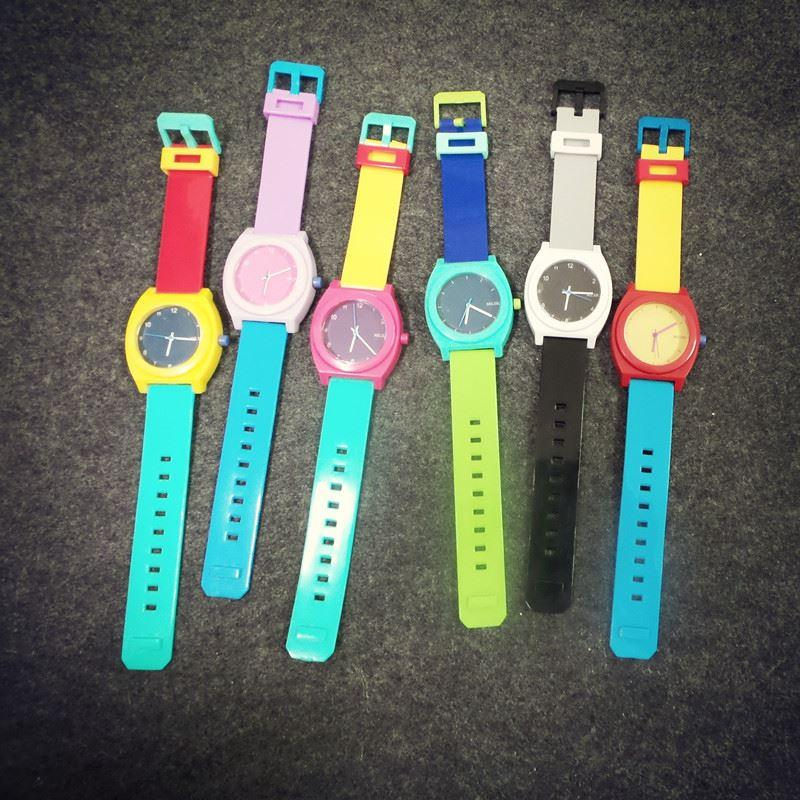 watches men women watches miller miler hit the color mixed colors colorful candy colored jelly watch female fashion high school students cool watches - Color Watches