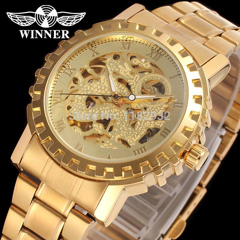 men s watch 2015 winner new automatic gold color skeleton dress men s watch 2015 winner new automatic gold color skeleton dress wristwatch factory tainless steel bracelet watch online watches buy buying watches from