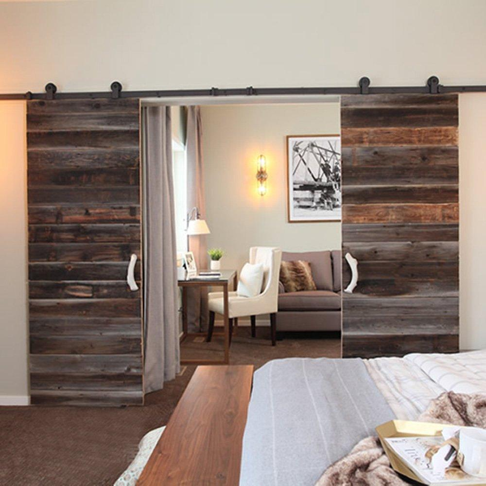 2017 10ft 3m new double wood sliding barn door hardware for 10 foot sliding door