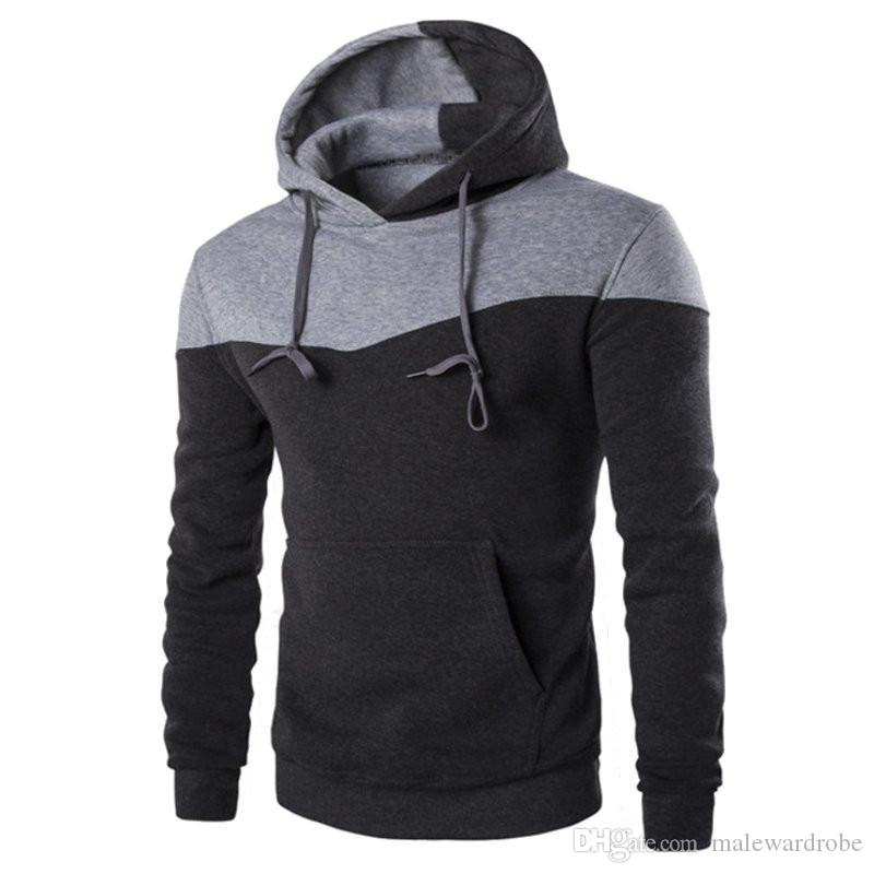 Fanshion Mens Hoodies Long Sleeve Pullover Hoodies Mens Clothes ...