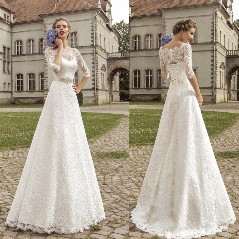 Vintage Lace Wedding Dresses On A Budget : Discount cheap vintage wedding dresses lace sexy off