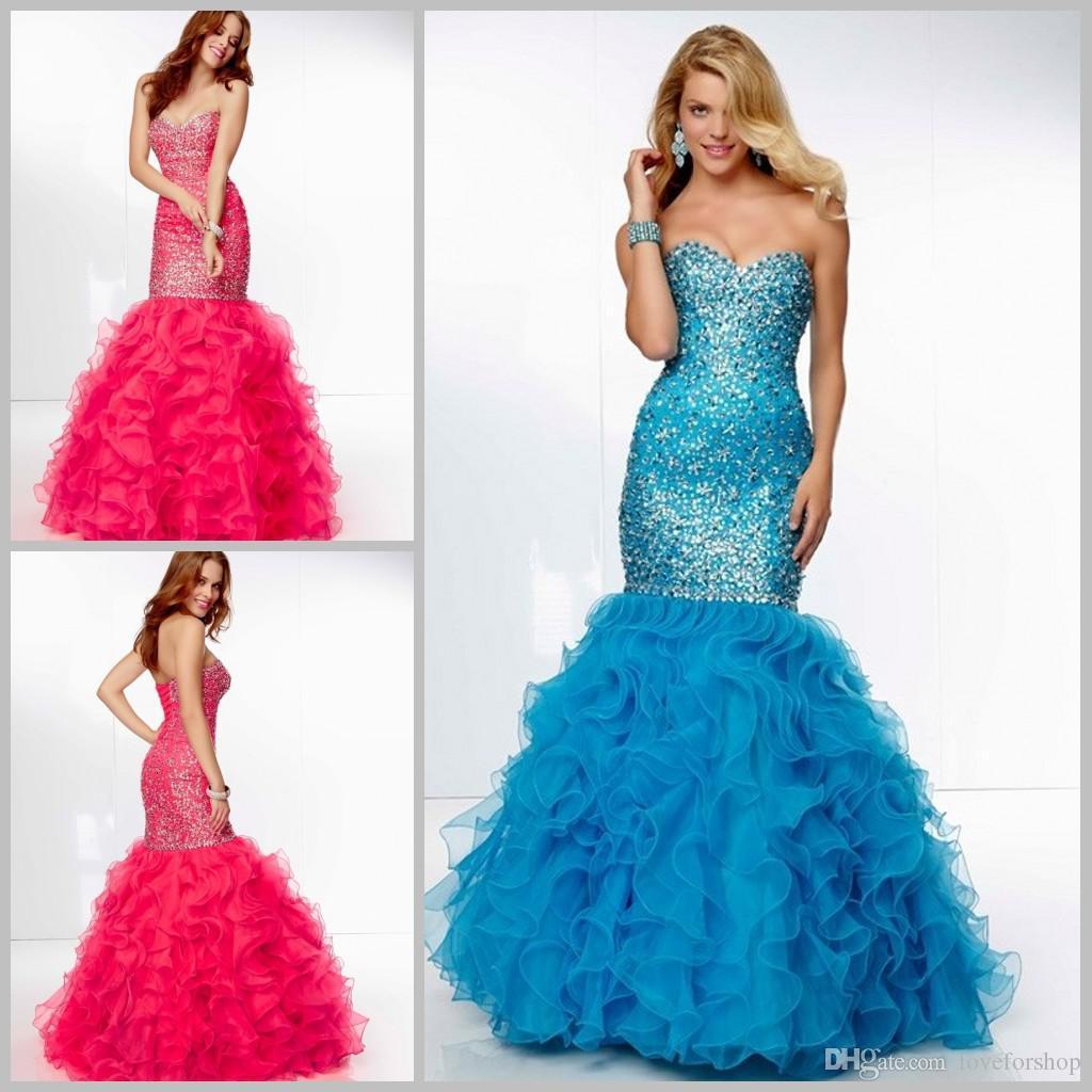 unique mermaid prom dresses 2015