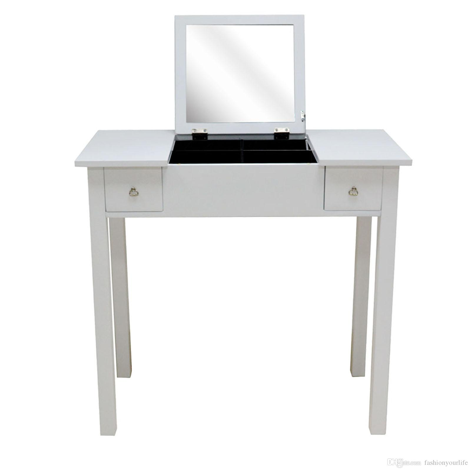 Bedroom Furniture Dressing Table With Mirror Vanity Makeup Table ...