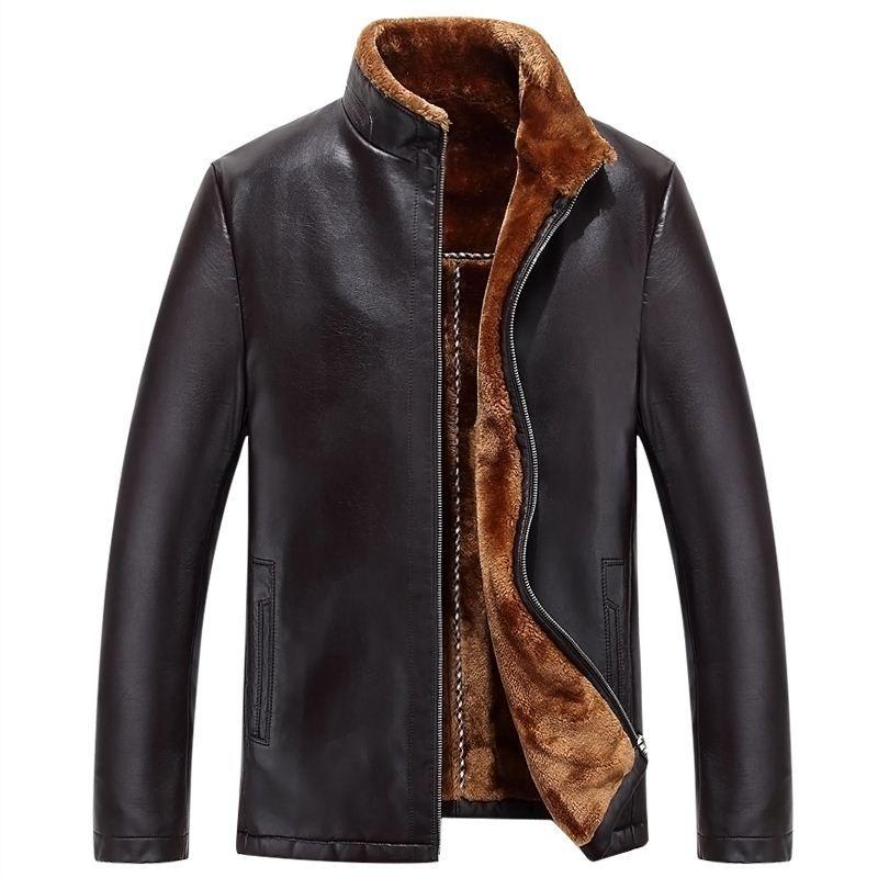 2017 Imported Clothing Mens Shearling Coats Genuine Leather Jacket