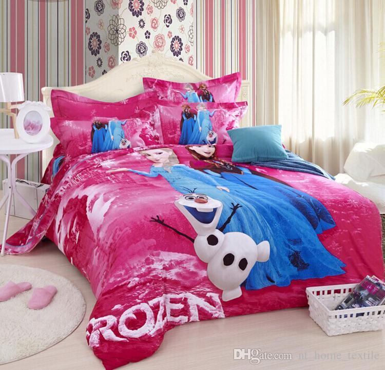 3d Princess Elsa & Anna Olaf Bedding Set High Quality 100% Cotton ...