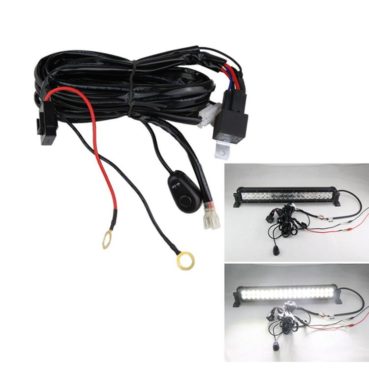 universal 3m led work light bar wiring harness universal 3m led work light bar wiring harness set wiring kit 12v wiring harness kit for led light bar at mr168.co