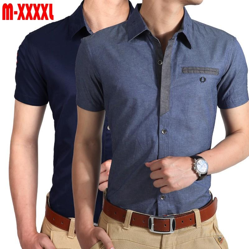 Men Shirt 2015 Brand Denim Shirt Men Short Sleeve Casual Shirt ...