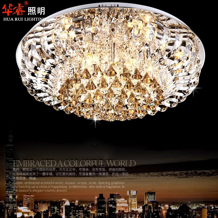 Best Crystal Chandeliers: Cheap Down Round Crystal Chandeliers S Fashionable Best Crystal 25 ~ 30sq.m  Diamond Ring Led Crystal Chandeliers,Lighting