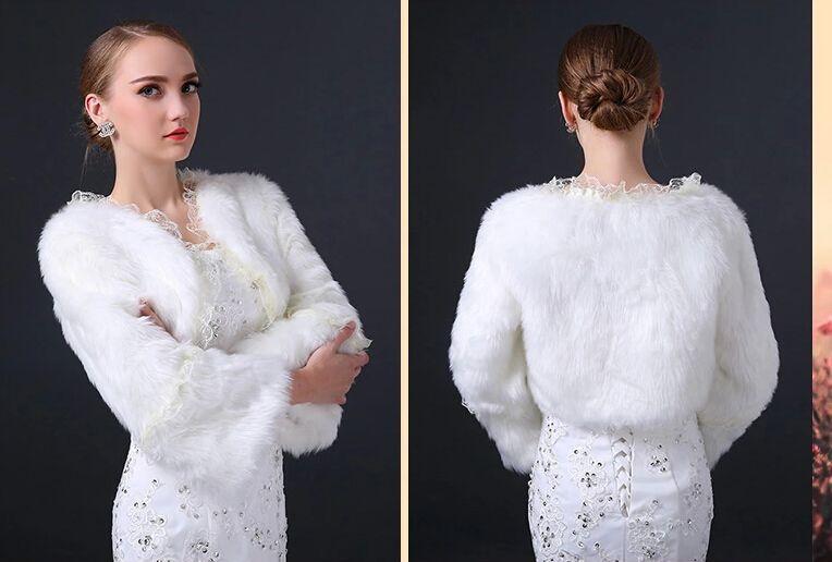 manches longues en dentelle bolero nuptiale manteau en laine chaude chle bride de mariage en - Bolero Fourrure Mariage Pas Cher