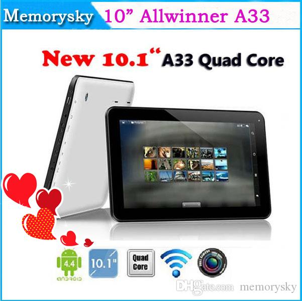 2015 Date 10 pouces Allwinner A33 capacitif Quad Core Tablet PC Android 4.4 1 Go