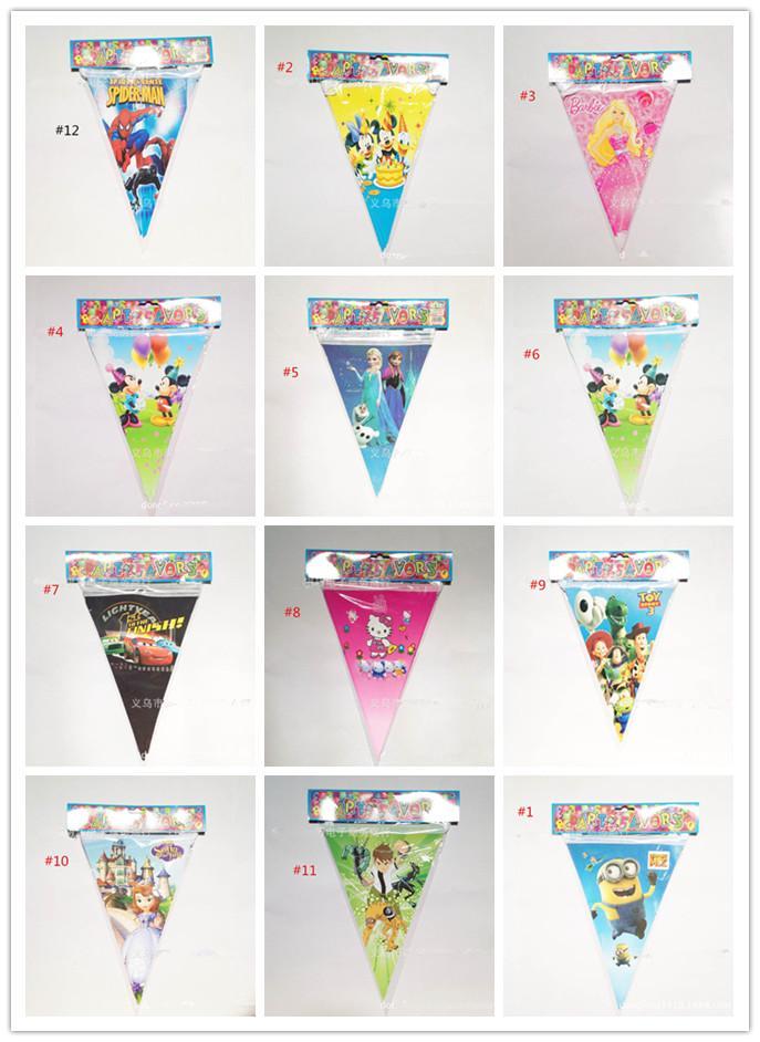 Triangle Decorative Flags Triangle Flags Cartoon