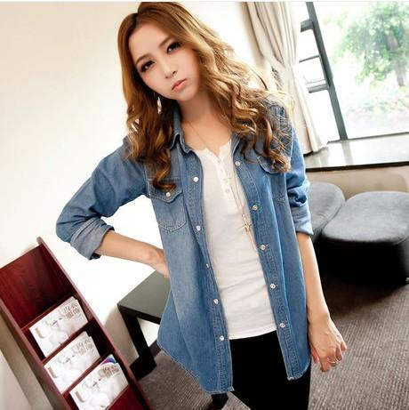 Cheap Big Denim Shirts Women | Free Shipping Big Denim Shirts ...