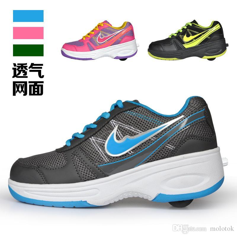 Fashion Children And Adult Automatic Wheel Shoes Boy And Gilrs ...