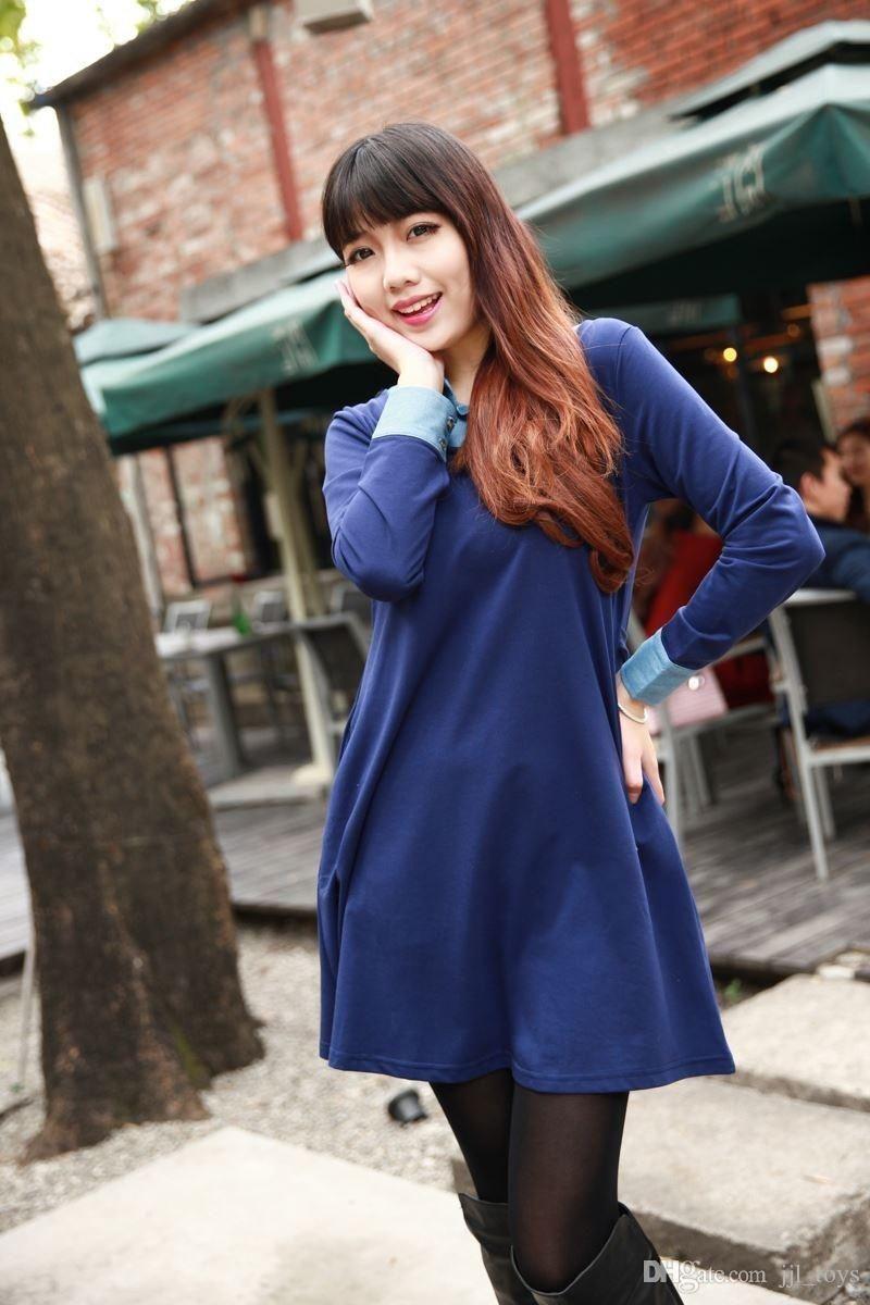 Leaf Embroidery Design Black Silk cotton Kurta Top Tunic Dress