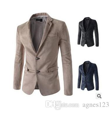 New Arrival Two Button Leisure Blazers Hommes Mode masculine Slim Fit Costume dé