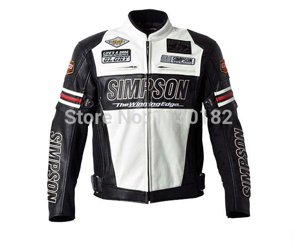 Hot sale SIMPSON SJ-4113 PU leather motorcycle jacket high-performance drop resistance clothing