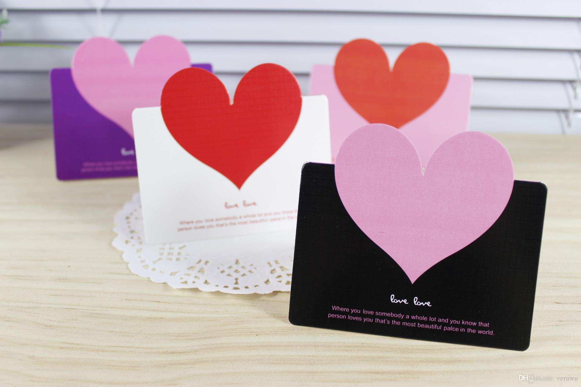 Creative Love Heart Gift Cards Valentines DayWedding Party – Valentine Card 2015