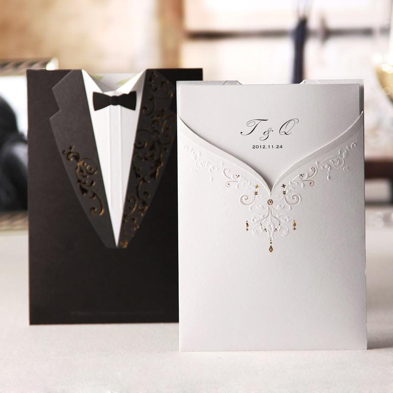 2015 Unique Free Personalized Customized Laser Cut Wedding – Cheap Invitations Cards