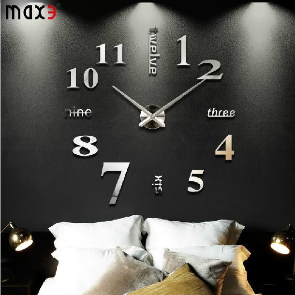 new d diy creative wall sticker wall decor clock big wall clock home decoration hours single: small bathroom clock