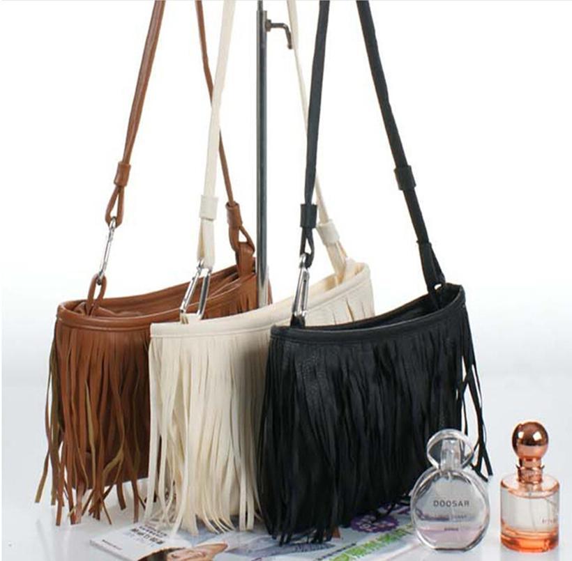 fashion woman tassel shoulder bag ladies messenger