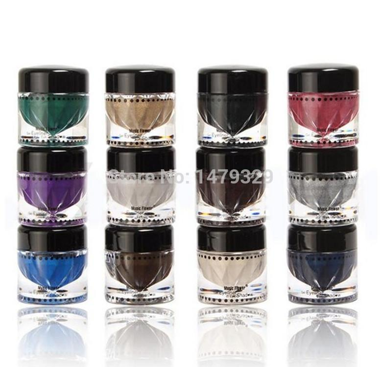 Music Flower Professional Makeup Eyeshadow Cream Palette Pigment ...