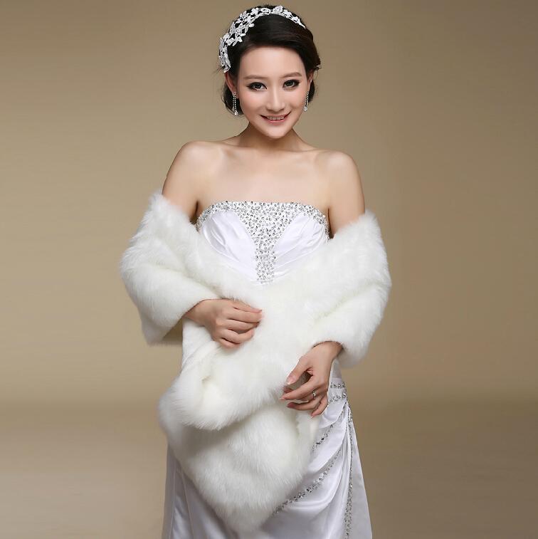 2017 2015 the bride wedding dress shawl warm white wedding for Winter shawls for wedding dresses