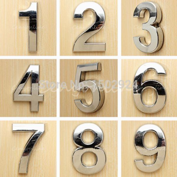 Modern silver house numbers