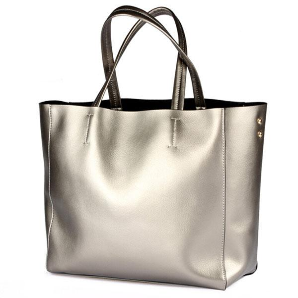 Handbags Women Big Bags Oversized Tote Bag Silver Bags Women Big ...
