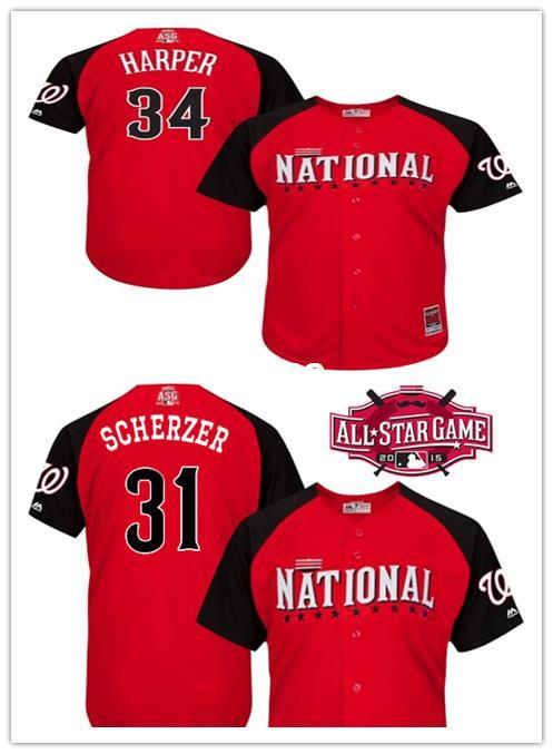 NFL Jerseys Online - 30 Teams- Bryce Harper Jersey 2015 MLB All Star Jersey Washington ...