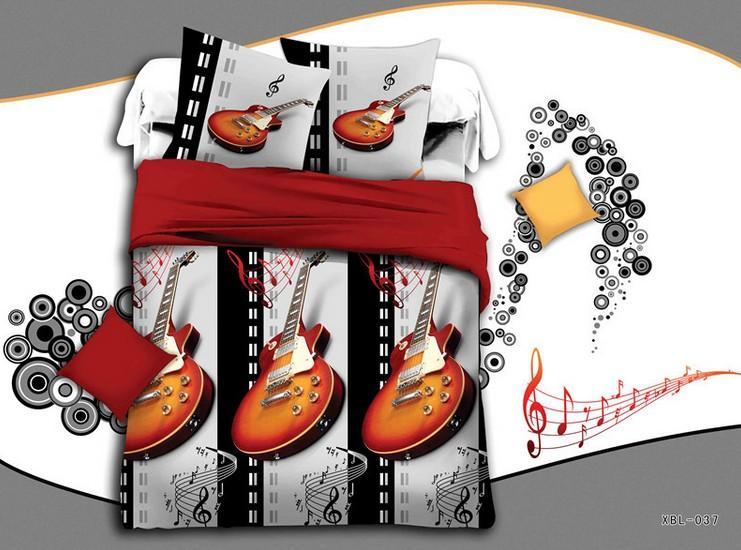 music note bedding set sheets violin quilt doona duvet cover bed in a bag linen spread bedspread. Black Bedroom Furniture Sets. Home Design Ideas