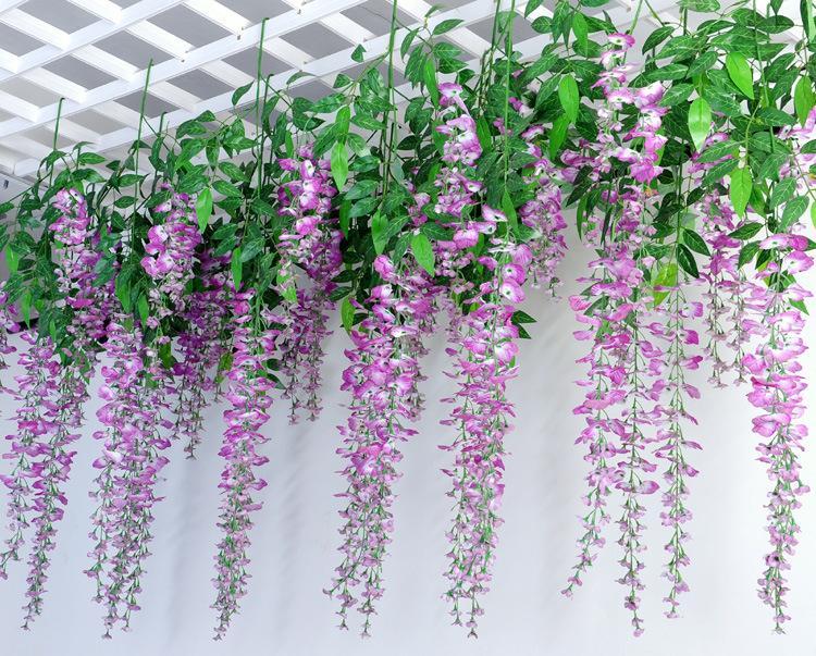 wisteria wedding decoration simulation flower vine hanging wedding decorations party supplies. Black Bedroom Furniture Sets. Home Design Ideas