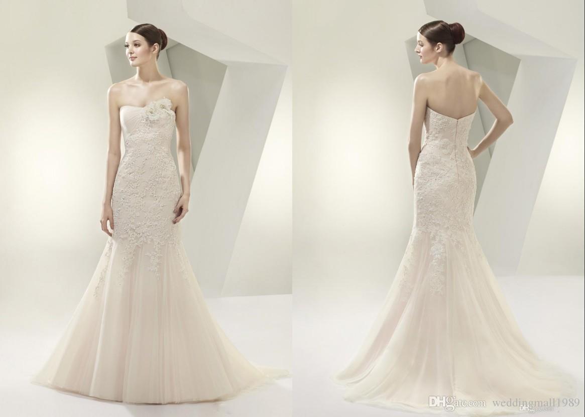 bra-strapless-vintage-lace-mermaid-wedding
