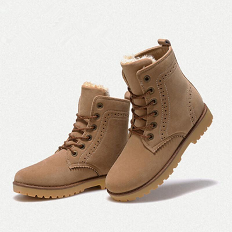 Snow Boots 2015 Fashion Winter Shoes Women Suede Boots for Men