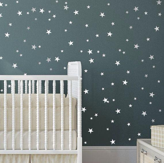 Silver Stars Wall Sticker Glow In The Dark Stars Decorative Wall Decal For  Kids Rooms Home Decoration Art Luminous Wall Decal Wall Sticker For Kids  Wall ...