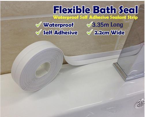 freeshipping Sealant BathTape easy to bridge the gap of kitchen   bathroom  shower room sanitary. 2017 Sealant Bathtape Easy To Bridge The Gap Of Kitchen   Bathroom