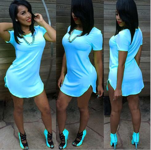 Discount 2015 Summer Sexy Club Dress Short Sleeve Split Bandage ...