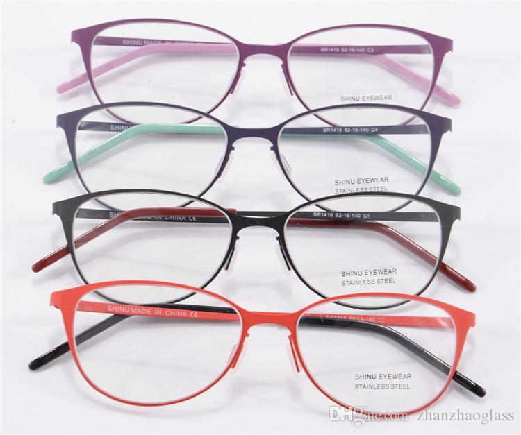 latest eyeglass frames 2015  2015 New Eye Glasses Frames For Women Round Metal Frame Glasses ...