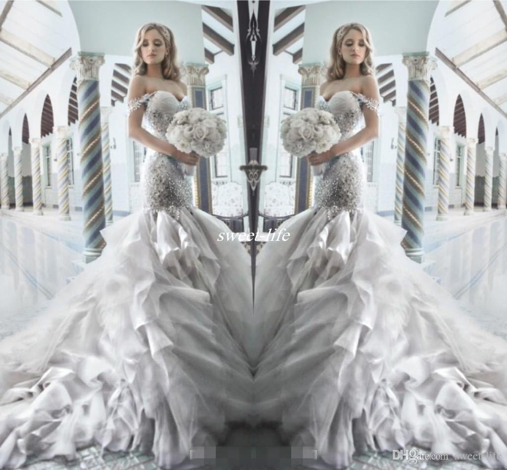 Pnina Tornai 2016 Rhinestone Mermaid Wedding Dresses with
