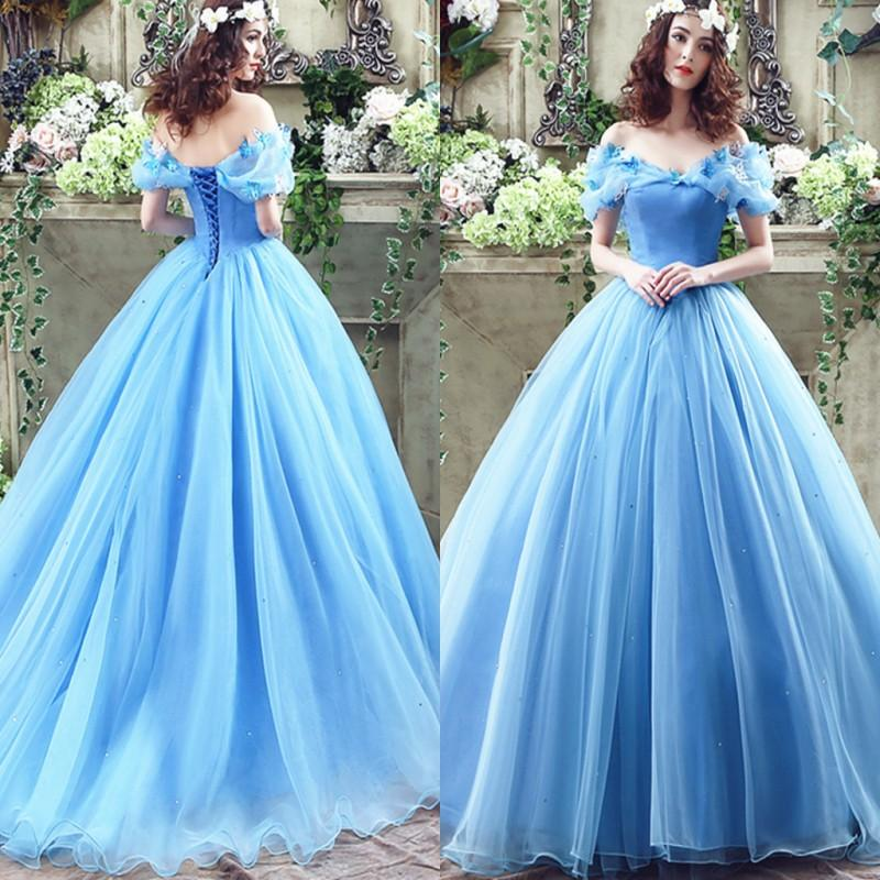 princess cinderella sweet 15 quinceanera dresses with