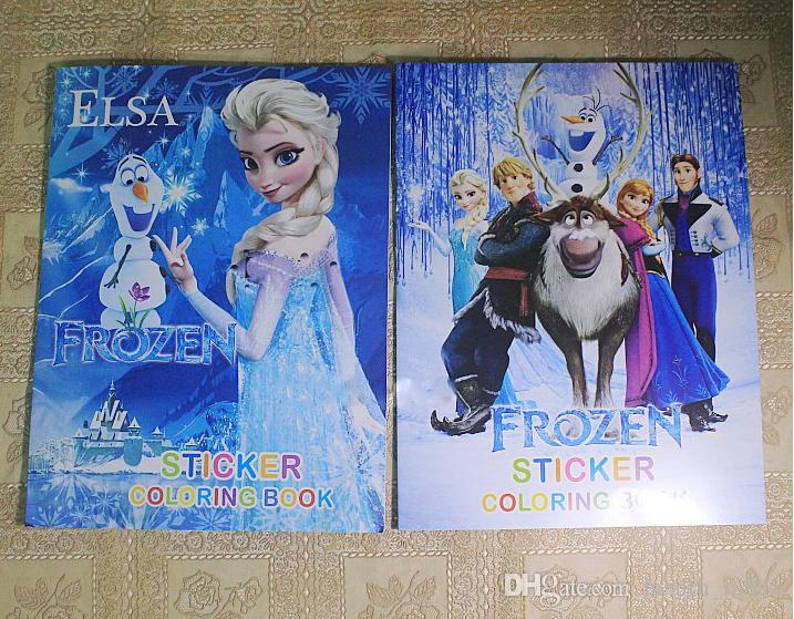 Frozen Anna Elsa Diy Colouring Notebook And Sticker Baby
