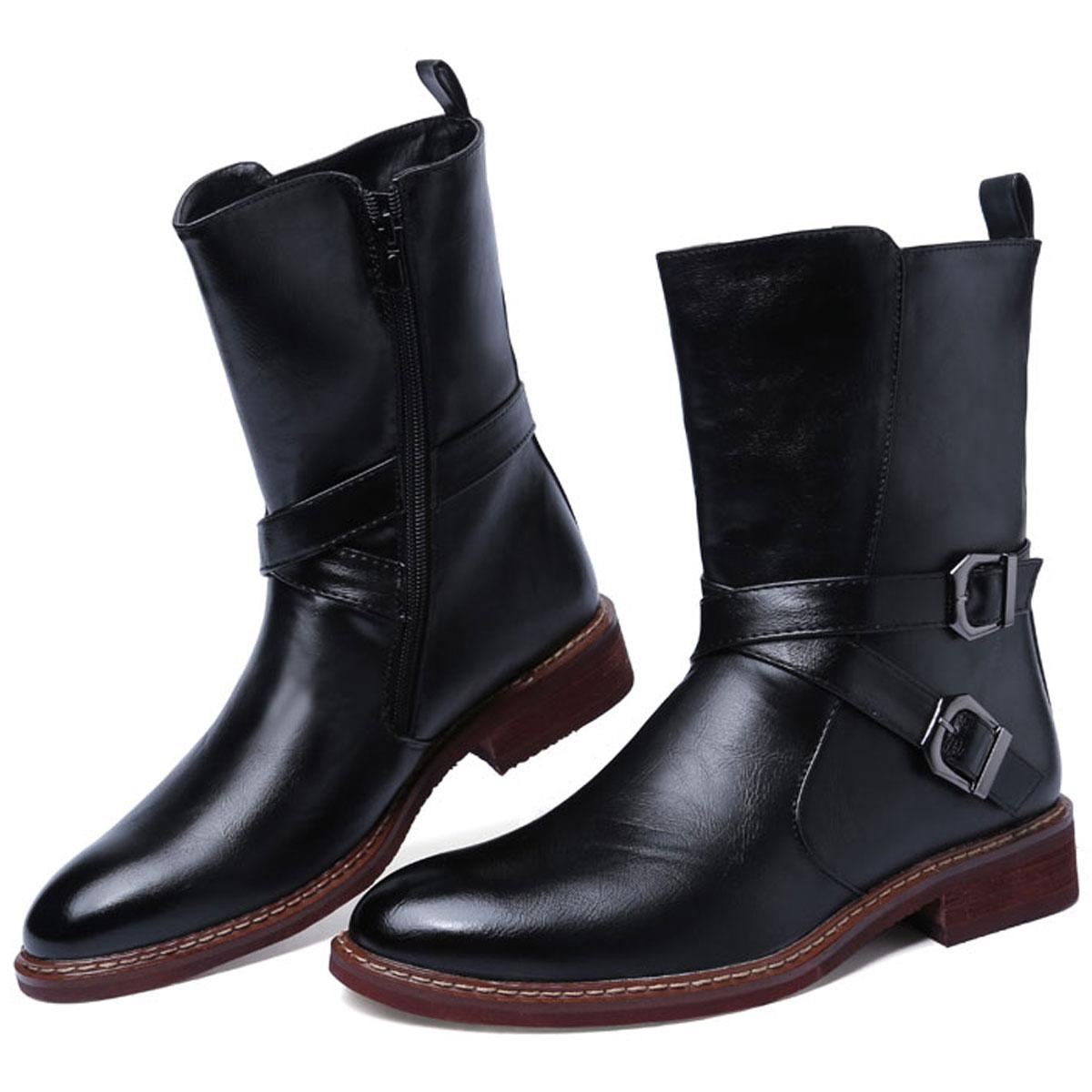 Western Stylish Roman Equestrian Ankle Boots Mens Quality Leather ...