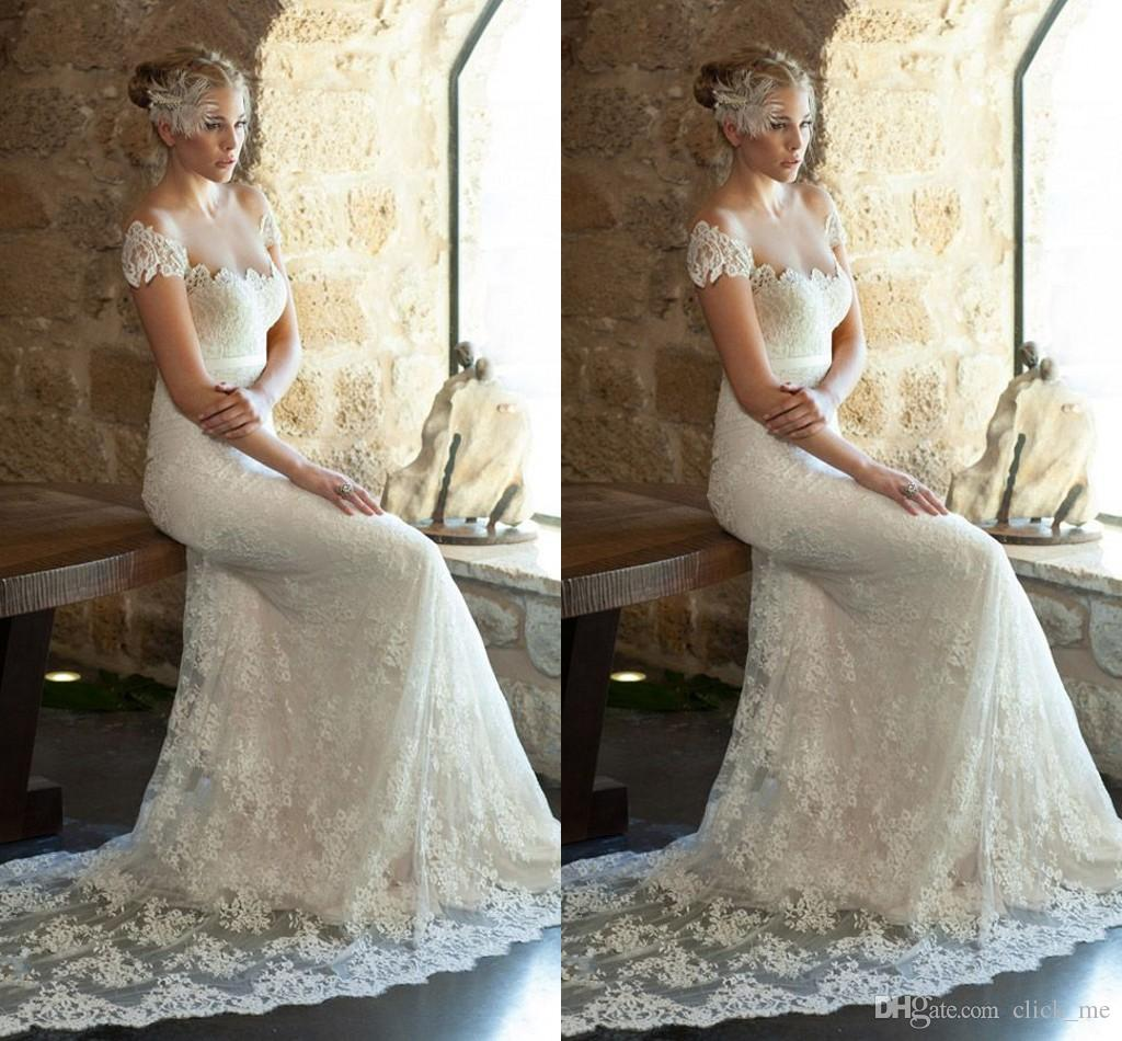 Lace Wedding Dress With Cap Sleeves Ivy And Aster Spring