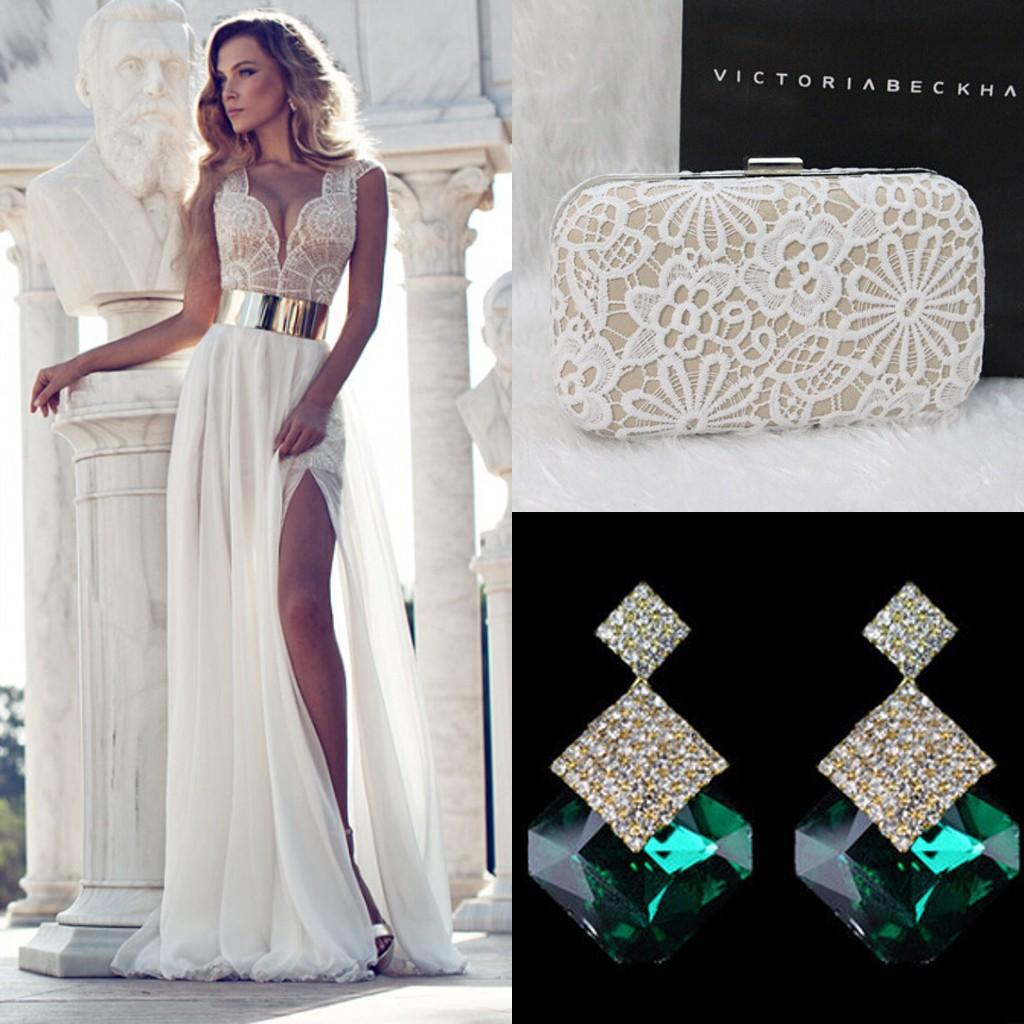 2015 Prom Dresses Tie In Sale Hand Bag Diamond Earrings 2016 New ...